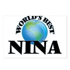 World's Best Nina Postcards (Package of 8)
