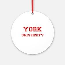 YORK UNIVERSITY Ornament (Round)