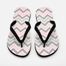 modern  abstract chevron pattern Flip Flops