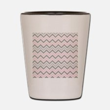 modern  abstract chevron pattern Shot Glass