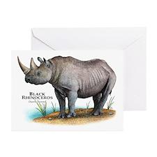 Black Rhinoceros Greeting Cards (Pk of 10)