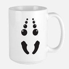 Creepy spider face costume Mugs