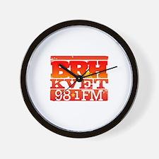 KVET_BRH_LogoSquare Wall Clock