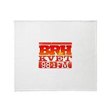 KVET_BRH_LogoSquare Throw Blanket