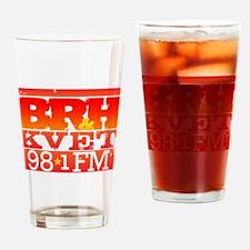 KVET_BRH_LogoSquare Drinking Glass