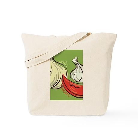 Garlic and Tomato Tote Bag