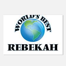 World's Best Rebekah Postcards (Package of 8)