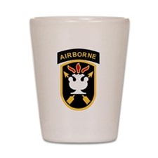 us army john f kennedy special warfare Shot Glass