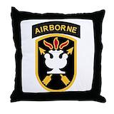 Us army airborne Throw Pillows