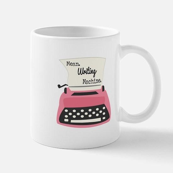 Mean Writing Machine Mugs