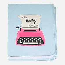 Mean Writing Machine baby blanket