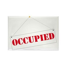 Funny Occupied Rectangle Magnet (10 pack)