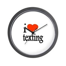 I Love Texting Text Messages Wall Clock