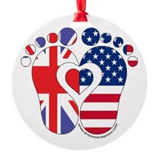 British American Baby Ornament
