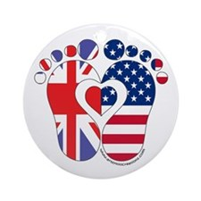 British American Baby Ornament (Round)