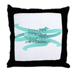 OVARIAN CANCER SUPPORT Throw Pillow
