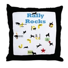 Rally Rocks v5 Throw Pillow