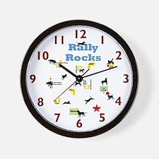 Rally Rocks v5 Wall Clock