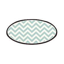 modern teal mint chevron pattern Patches