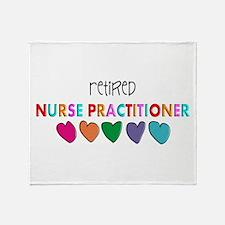 rETIRED nURSE pRACTITIONER HEARTS Throw Blanket