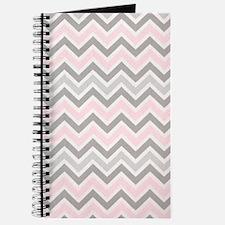 modern grey pink chevron pattern Journal