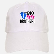 I'm the Big Brother! two pink feet Baseball Baseball Baseball Cap