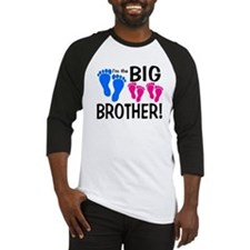 I'm the Big Brother! two pink feet Baseball Jersey