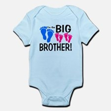 I'm the Big Brother! two pink feet Body Suit