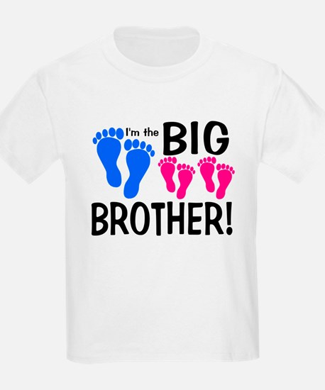 I'm the Big Brother! two pink feet T-Shirt