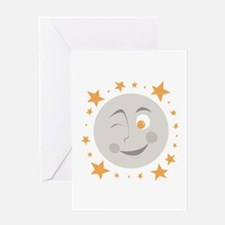 Moon Wink Greeting Cards