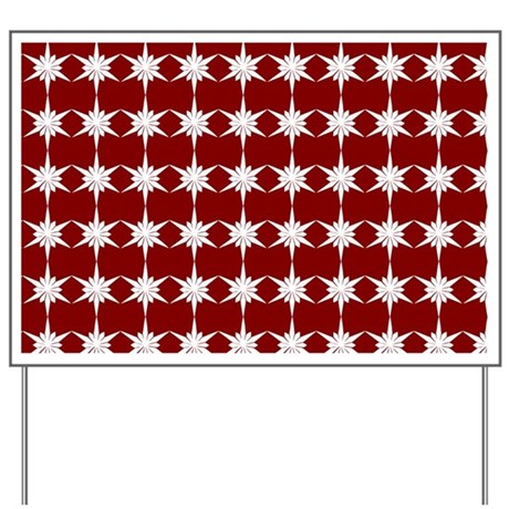 Whimsical snowflakes holiday pattern yard sign by bimbys for Christmas yard signs patterns