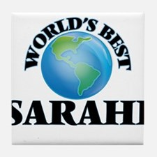 World's Best Sarahi Tile Coaster