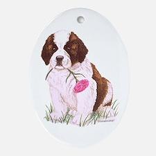 St. Bernard Puppy Oval Ornament