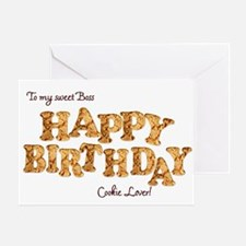 For boss, a Birthday card for a cookie lover Greet