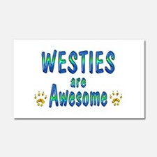 Westies are Awesome Car Magnet 20 x 12