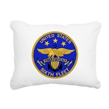SIXTH FLEET US Navy Mili Rectangular Canvas Pillow