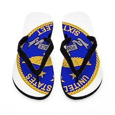 SIXTH FLEET US Navy Military PATCH.psd. Flip Flops