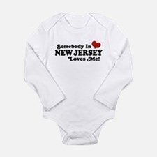 Funny Someone california loves me Long Sleeve Infant Bodysuit