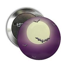 Bats on the Moon Halloween Button