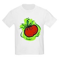tomato on bold green background T-Shirt