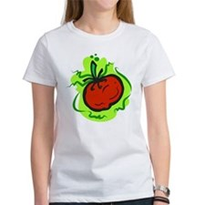 tomato on bold green background T-Shirt