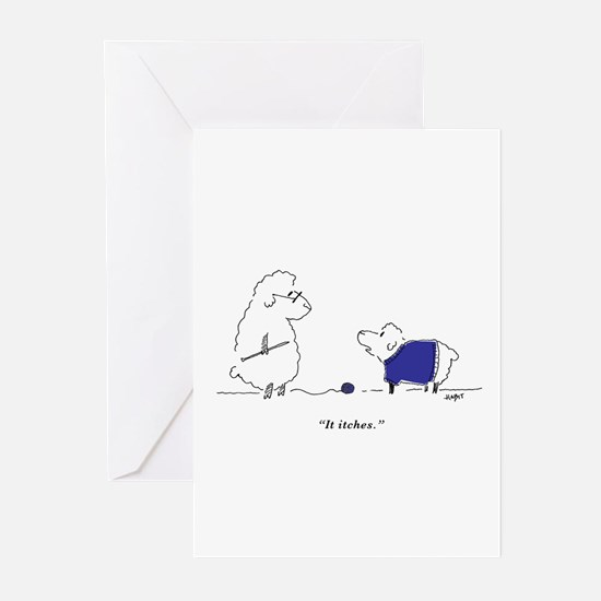 Cute Child knitting Greeting Cards (Pk of 20)