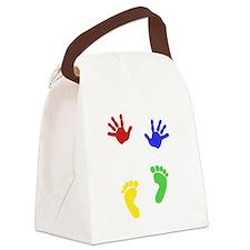 Cute Monogrammed kids Canvas Lunch Bag