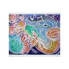 Music! Fun, colorful, sax! Throw Blanket