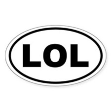 LOL Oval Decal