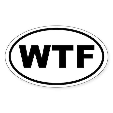 WTF Oval Sticker