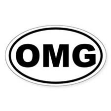 OMG Oval Decal