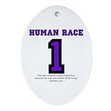 1 Human Race (PT) - Oval Ornament
