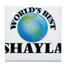 World's Best Shayla Tile Coaster
