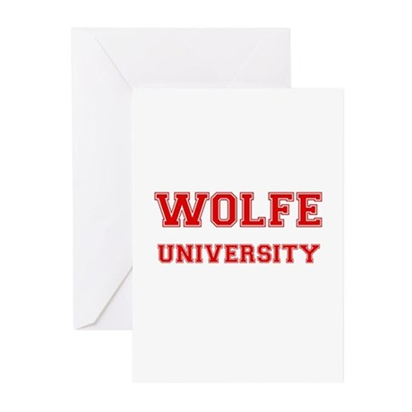 WOLFE UNIVERSITY Greeting Cards (Pk of 10)